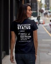 Electrician Ladies T-Shirt lifestyle-women-crewneck-back-1