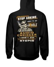 Audio Engineer Hooded Sweatshirt back