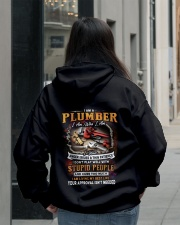 Plumber Hooded Sweatshirt lifestyle-unisex-hoodie-back-2