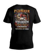 Plumber V-Neck T-Shirt tile