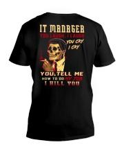 IT Manager V-Neck T-Shirt thumbnail