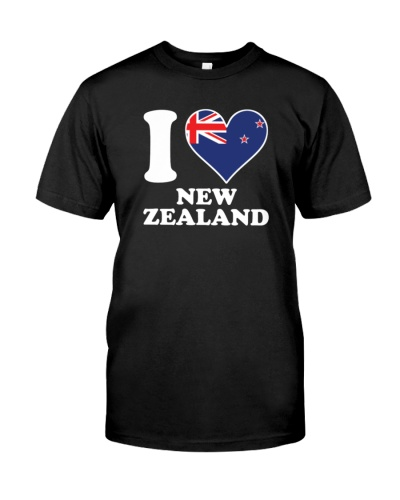 I love New Zealand kiwi flag heart