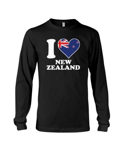 I love New Zealand kiwi flag heart