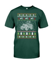 Tractor Ugly Christmas Sweater Premium Fit Mens Tee thumbnail