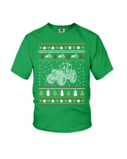 Tractor Ugly Christmas Sweater Youth T-Shirt thumbnail