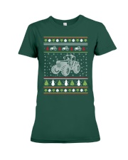 Tractor Ugly Christmas Sweater Premium Fit Ladies Tee thumbnail