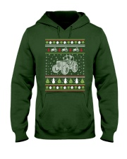 Tractor Ugly Christmas Sweater Hooded Sweatshirt thumbnail