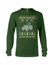 Tractor Ugly Christmas Sweater Long Sleeve Tee front