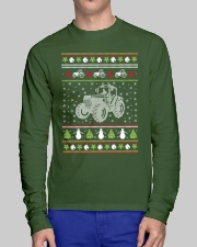 Tractor Ugly Christmas Sweater Long Sleeve Tee lifestyle-unisex-longsleeve-front-1
