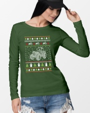 Tractor Ugly Christmas Sweater Long Sleeve Tee lifestyle-unisex-longsleeve-front-4