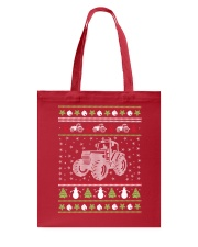 Tractor Ugly Christmas Sweater Tote Bag thumbnail