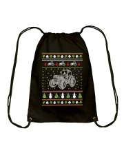 Tractor Ugly Christmas Sweater Drawstring Bag thumbnail