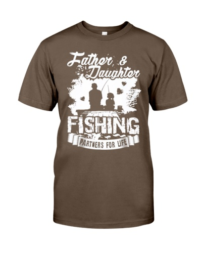 Father Daughter Fishing Partners For Life Shirts
