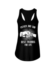 Father and Son  Best Friends Ladies Flowy Tank thumbnail