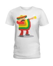 42Dabbing Man Drinking Beer Ladies T-Shirt thumbnail