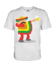 42Dabbing Man Drinking Beer V-Neck T-Shirt thumbnail