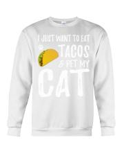 297Taco Cat Shirt Cinco De Mayo Cat Mom Gift Crewneck Sweatshirt thumbnail