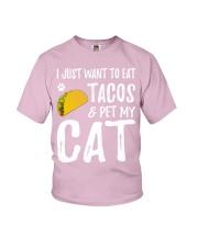 297Taco Cat Shirt Cinco De Mayo Cat Mom Gift Youth T-Shirt thumbnail
