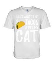 297Taco Cat Shirt Cinco De Mayo Cat Mom Gift V-Neck T-Shirt thumbnail