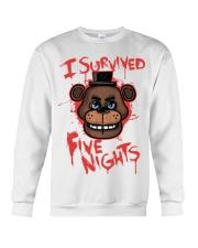85 I Survived Five Nights Kids T S Crewneck Sweatshirt thumbnail