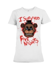 85 I Survived Five Nights Kids T S Premium Fit Ladies Tee thumbnail