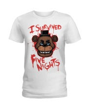85 I Survived Five Nights Kids T S Ladies T-Shirt front