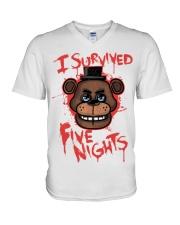 85 I Survived Five Nights Kids T S V-Neck T-Shirt thumbnail