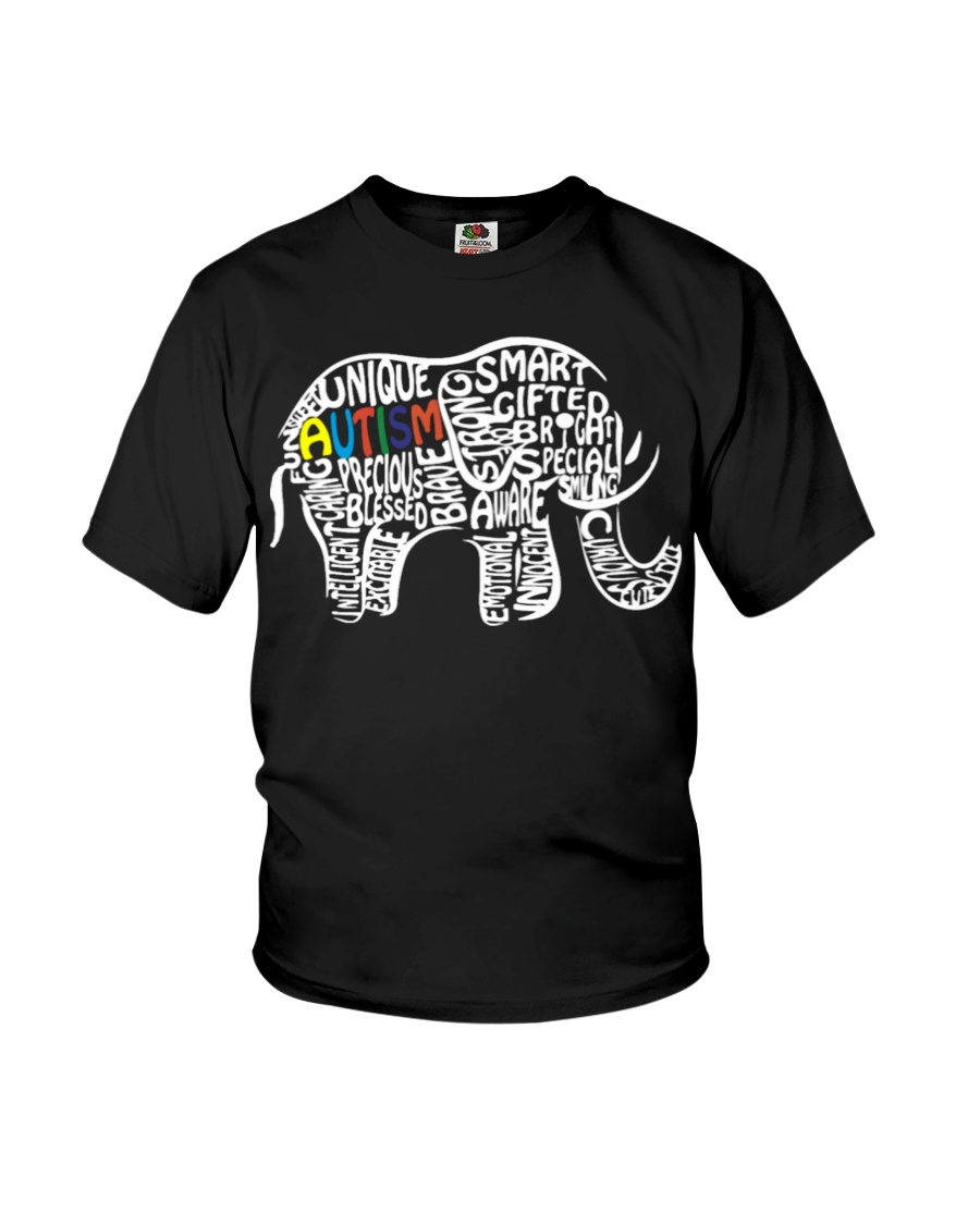 a62e1d21e913 Autism Awareness Elephant T Shirt - Autism Day 18 Youth T-Shirt