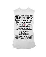 106 Night Shift Nurse Sleeping Do Not Knock Or Rin Sleeveless Tee thumbnail
