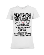 106 Night Shift Nurse Sleeping Do Not Knock Or Rin Premium Fit Ladies Tee thumbnail