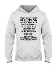 106 Night Shift Nurse Sleeping Do Not Knock Or Rin Hooded Sweatshirt thumbnail