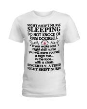 106 Night Shift Nurse Sleeping Do Not Knock Or Rin Ladies T-Shirt thumbnail