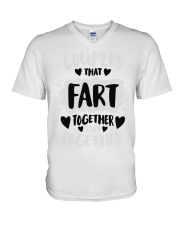 97 Couples That Fart Together Stay Together Mens H V-Neck T-Shirt thumbnail
