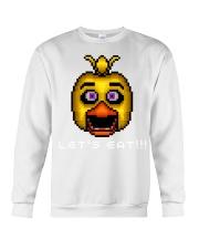 75 Five Nights At Freddys Chica Pixel Art Mens Pre Crewneck Sweatshirt thumbnail