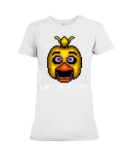 75 Five Nights At Freddys Chica Pixel Art Mens Pre Premium Fit Ladies Tee thumbnail