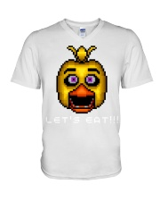 75 Five Nights At Freddys Chica Pixel Art Mens Pre V-Neck T-Shirt tile