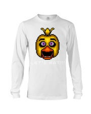 75 Five Nights At Freddys Chica Pixel Art Mens Pre Long Sleeve Tee thumbnail