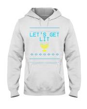 176 Lets Get Lit Funny Hanukkah Sweater Menorah Me Hooded Sweatshirt thumbnail