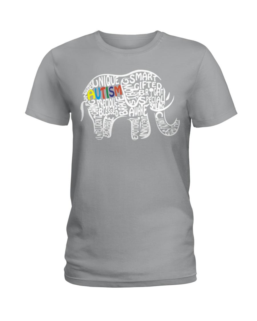 be073c29e56 Autism Awareness Elephant T Shirt Ladies T-Shirt