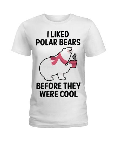 91 I Liked Polar Bears Womens V Neck T S