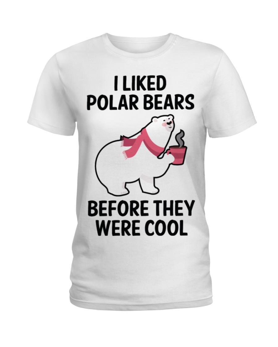 91 I Liked Polar Bears Womens V Neck T S Ladies T-Shirt