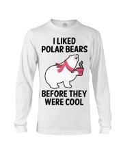 91 I Liked Polar Bears Womens V Neck T S Long Sleeve Tee thumbnail