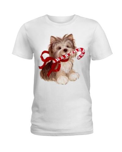 568 Cute Yorkie Yorkshire Terrier Christmas Shirt