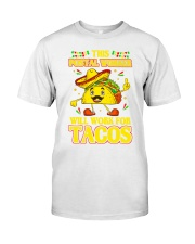 372This Postal Worker Will Work For Tacos Premium Fit Mens Tee thumbnail