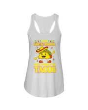 372This Postal Worker Will Work For Tacos Ladies Flowy Tank thumbnail