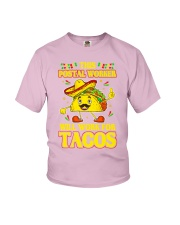 372This Postal Worker Will Work For Tacos Youth T-Shirt thumbnail