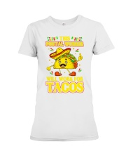 372This Postal Worker Will Work For Tacos Premium Fit Ladies Tee thumbnail