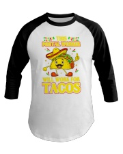 372This Postal Worker Will Work For Tacos Baseball Tee thumbnail