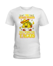 372This Postal Worker Will Work For Tacos Ladies T-Shirt thumbnail