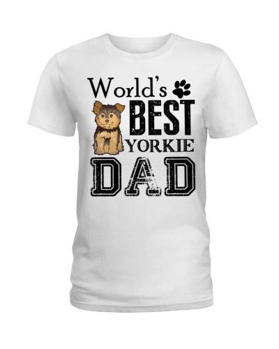 586 Yorkie Dad Shirt Worlds Best Yorkie Dad T Shir